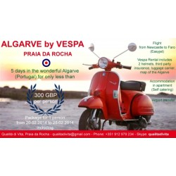 5 Day Scooter Holiday package in the Algarve Fully Booked